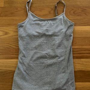 Justice plain grey tank top